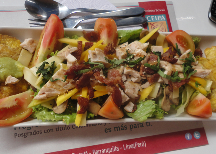Mulata's chicken salad with Colombian bacon. Ahh.
